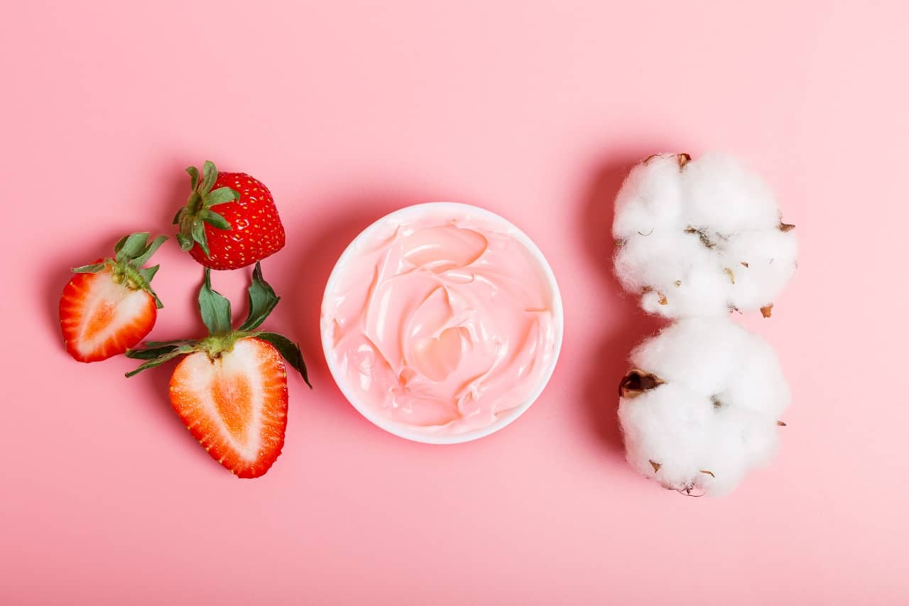 Strawberry homemade face masks for glowing skin