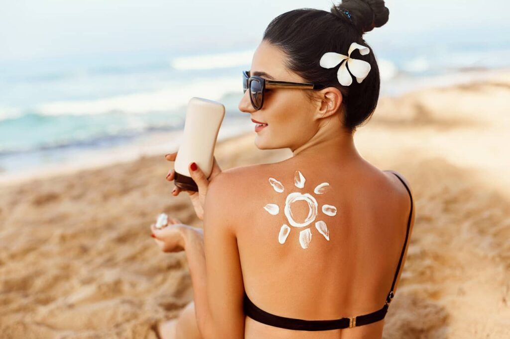 Use sunscreen…a lot of sunscreen